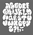 set street type calligraphy design alphabet vector image vector image