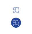 sg-logo vector image vector image