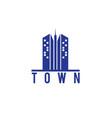 skyscraper town building logo vector image vector image