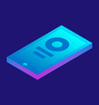 smartphone icon isometric style vector image