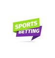 sports betting isolated icon sticker vector image vector image