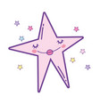 star smiling cartoon vector image