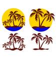 symbols tropical island vector image