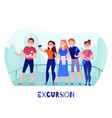 travelers excursion vector image vector image