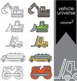 vehicle universe 2 vector image