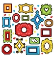 Vintage Frames Decorative Elements for Scrapbook vector image vector image