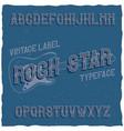 vintage label typeface named rock star vector image vector image