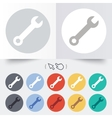Wrench key sign icon Service tool symbol vector image vector image