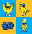 Hipster Bird vector image