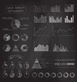 Set of chalk business infographic vector image