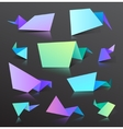 set of colorful origami bubbles isolated vector image
