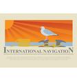 Set of sailing boat and nautical logos vector image