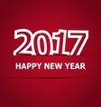 2017 Happy New Year on red background vector image vector image
