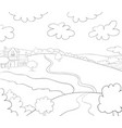 a children coloring bookpage a landscape image vector image