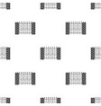a fence of metal and bricks a different fence vector image vector image