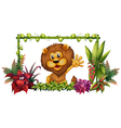 A lion in a colorful frame vector image vector image