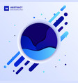 abstract blue fluid wave design in circle vector image