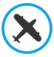 Aeroplane Circled Icon vector image