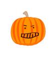 angry cartoon pumpkin the evil pumpkin vector image vector image