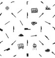 bbq thematic seamless design barbecue pattern for vector image