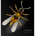 bee isolated on the white vector image