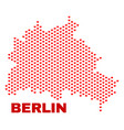 berlin city map - mosaic of lovely hearts vector image vector image