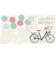 birthday greeting card background vector image vector image