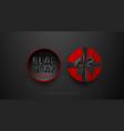 black friday sale premium minimalistic banner vector image