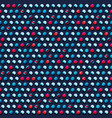 blue circle pattern vector image