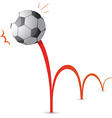 Bouncing soccer ball cartoon vector image vector image