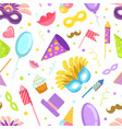 carnival seamless pattern with celebration party vector image vector image