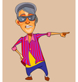 cartoon guy teenager I bright clothes shows vector image vector image