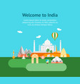 cartoon symbol of india background tourism concept vector image vector image