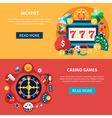 Casino Games Banners Set vector image vector image