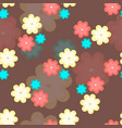 colorful flowers seamless pattern vector image vector image