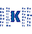 colorful jelly alphabets for kids isolated vector image vector image