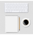 computer keyboard set isolated transparent vector image vector image