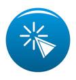 Cursor click icon blue