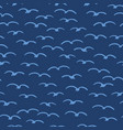 cute seagulls flying in summer sky marine animal vector image vector image