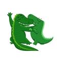 Dancing Crocodiles vector image vector image