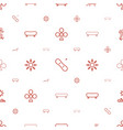 deck icons pattern seamless white background vector image vector image