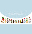 dogs wearing christmas costume background vector image vector image