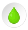 Drop of water icon cartoon style vector image