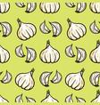 elegant seamless pattern with hand drawn garlic vector image vector image