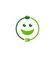 face food logo icon design vector image