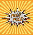 fast food word background in style pop art vector image