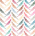 Feathers background Beautiful pattern vector image