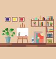flat art studio interior