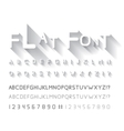 flat font vector image vector image