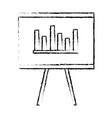 flipchart board isolated icon vector image